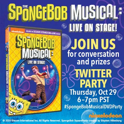 Twitter Party Sponge Bob Musical DVD