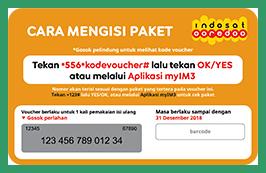 Cara Memasukkan  Kode Voucher Indosat
