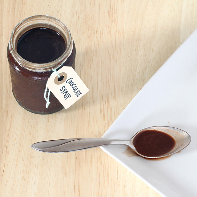 Easy chocolate syrup - perfect for flavoring coffee!