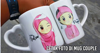 Cetak foto di Mug Couple