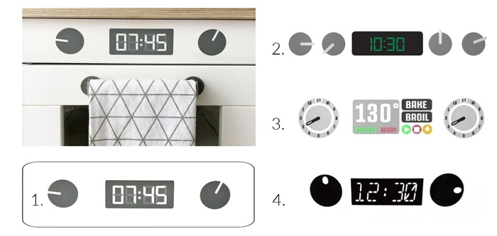 oven dial decal stickers for ikea play kitchen