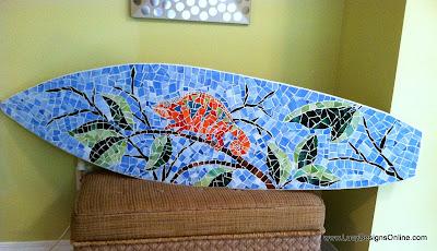 chameleon surfboard mosaic