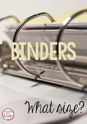 School Supplies: If a binder is on your list, pay attention to its description.. Get the size listed and check to see if it has insertable pockets, three rings, and is easy for your child to snap open! More supply ideas on this blog post!