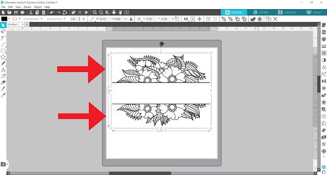 split monogram, monogram, custom designs, silhouette studio v4, designing