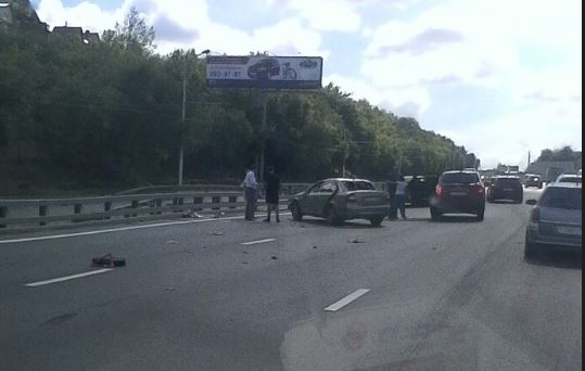 Из-за собаки перевернулась машина: Видео момента аварии