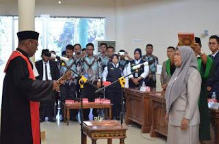 Resmi Dilantik, Umi Rini Lengkapi Komposisi Pimpinan DPRD Kota Bima