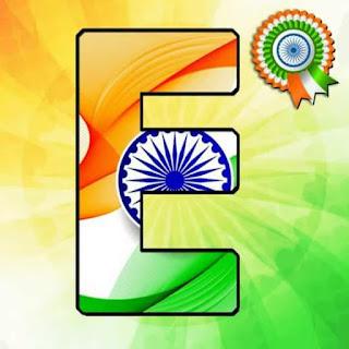 Tiranga Whatsapp DP aphabet image  E