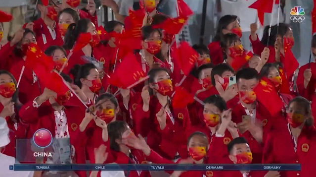 Tokyo 2021 Olympics Opening Ceremony Parade of Nations China communists