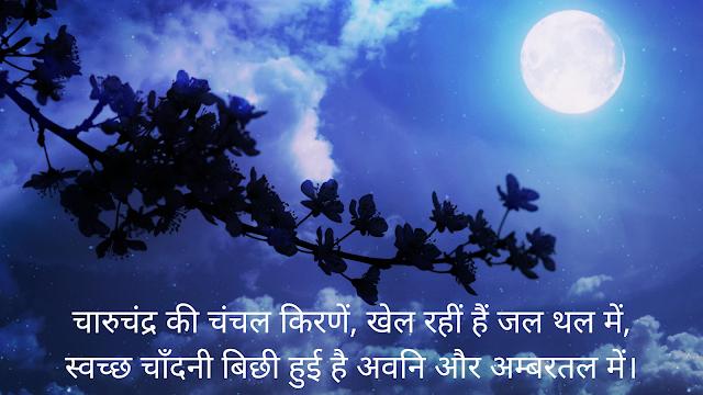 Hindi Poem - Charu Chandra Ki Chanchal Kirne