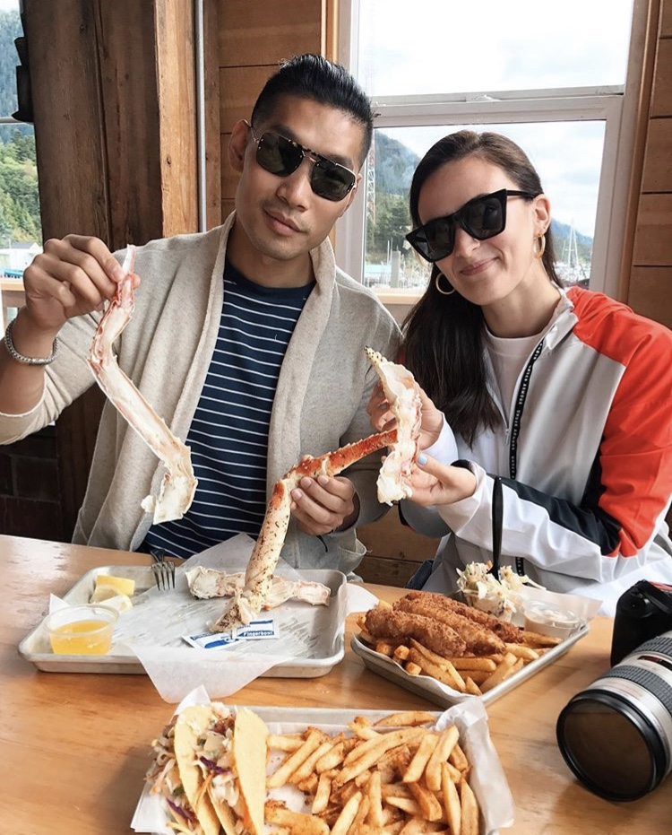 Leo Chan and Alicia Mara at the Alaska Fish House in Ketchikan | Travel Guide