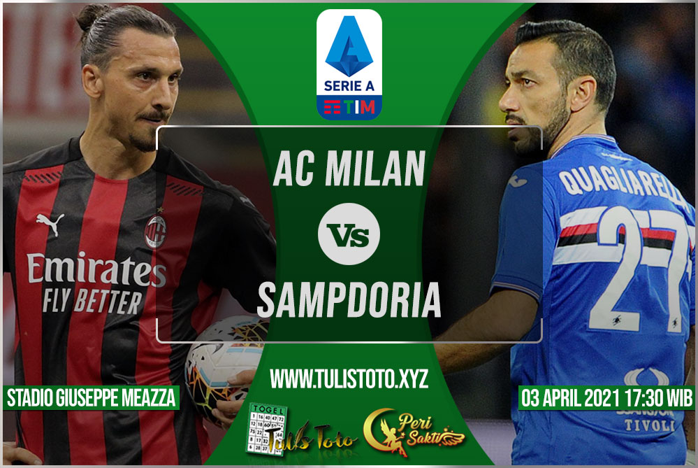 Prediksi AC Milan vs Sampdoria 03 April 2021