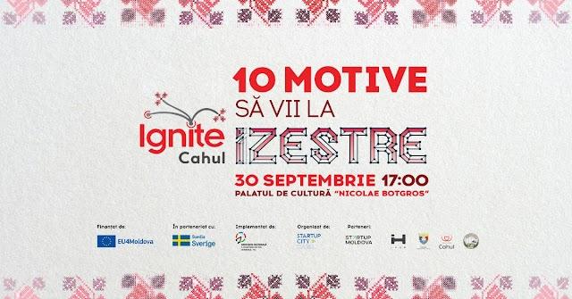 În premieră, IGNITE ajunge și în regiunea de sud a Moldovei - Ignite Cahul: iZestre.  Iată 10 motive să vii la eveniment
