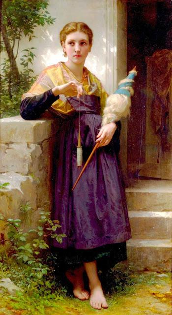 Адольф Вильям Бугро - Прядильщица (1873)