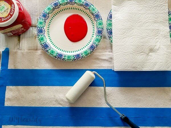 use paper plates for paint