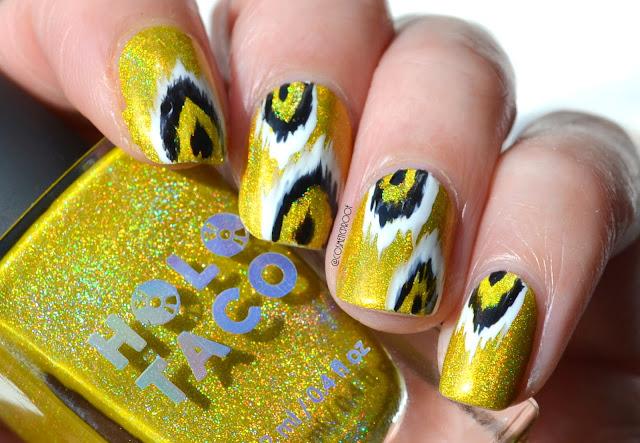 Holo Ikat Nail Art