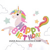 Bunting Banner HAPPY BIRTHDAY Unicorn (2 Motif)