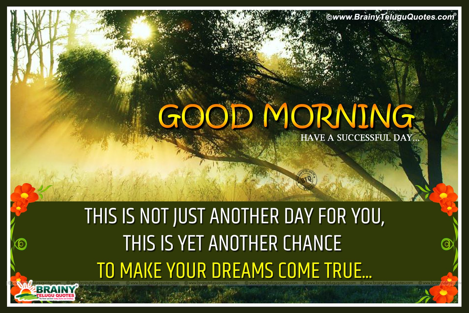 Good Morning Quotes Motivational In English : English inspirational good morning sayings with beautiful