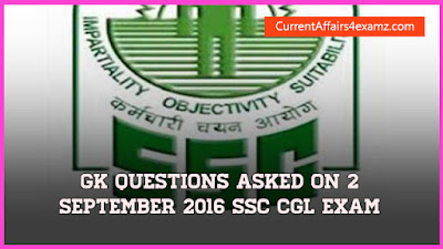 SSC CGL Question 2 September 2016