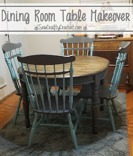 A Dining Room Table Makeover, a host pick from Funtastic Friday #313!