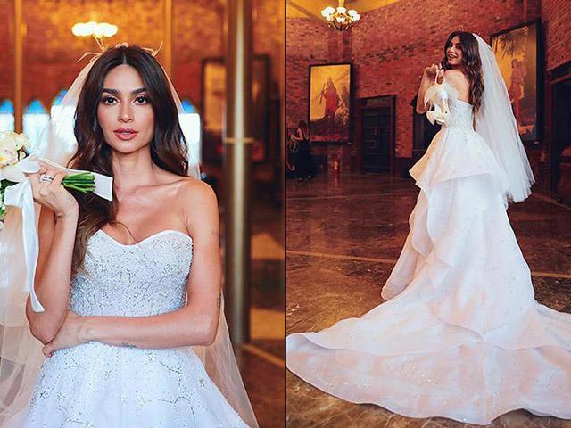 O vestido de noiva de Thaila Ayala