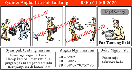 Prediksi Syair Pak Tuntung Sidney Rabu 01 Juli 2020