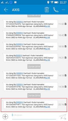 Bukti Pembayaran Pulsa Gratis Rp200.000 dari Yougov
