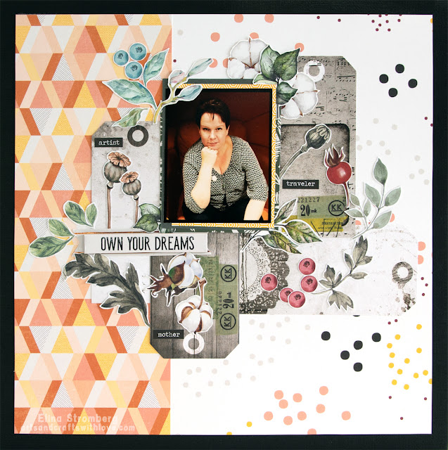 Scrapbooking layout: Own your dreams