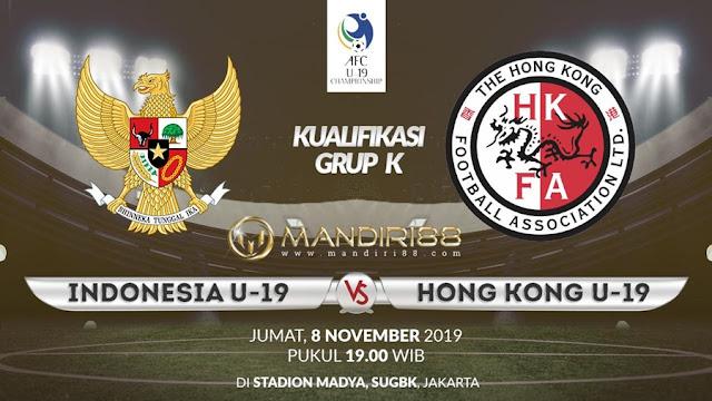 Prediksi Indonesia U19 Vs Hong Kong U19, Jumat 08 November 2019 Pukul 19.00 WIB @ RCTI