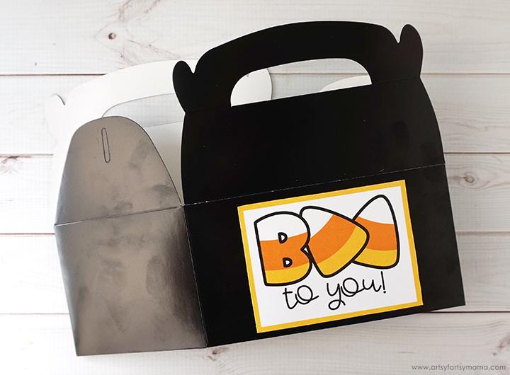 Halloween Boo Gift Box with Free Printable Tag