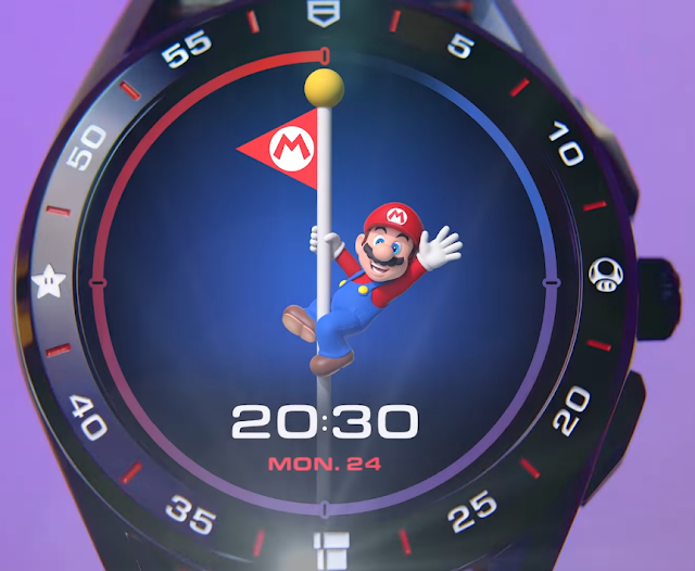 TAG Heuer Connected x Super Mario Limited Edition flagpole waving bye