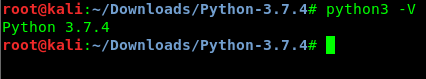 pyhton 3.7.4 in Kali Linux