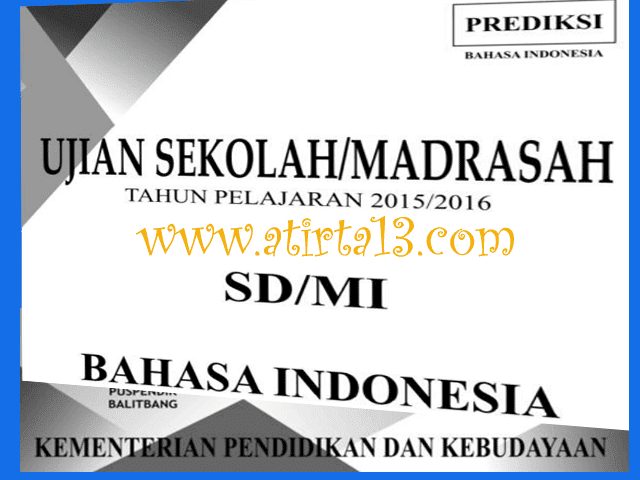 Contoh Paket Soal Latihan US/M SD/MI Tahun 2016