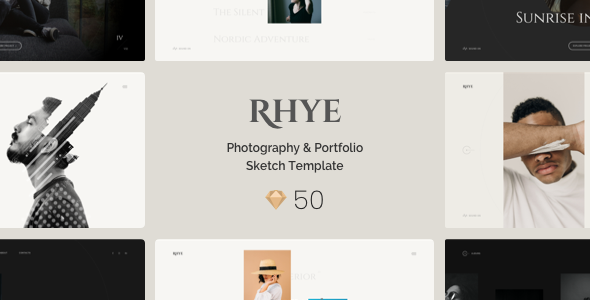 Photography & Portfolio Sketch Template