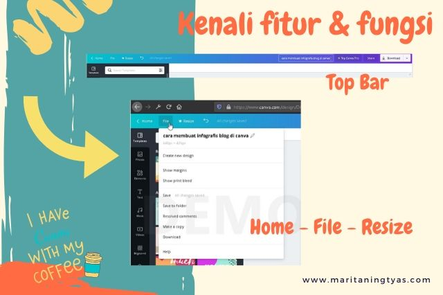 cara membuat infografis blog di canva top bar home file resize