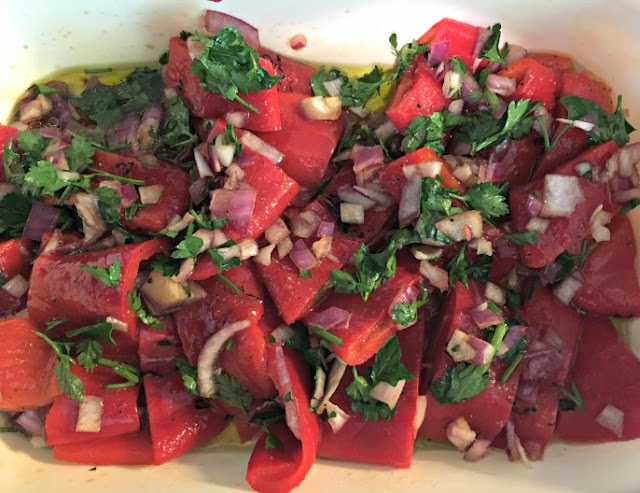 Ioanna's Notebook - Roasted Red Peppers Salad