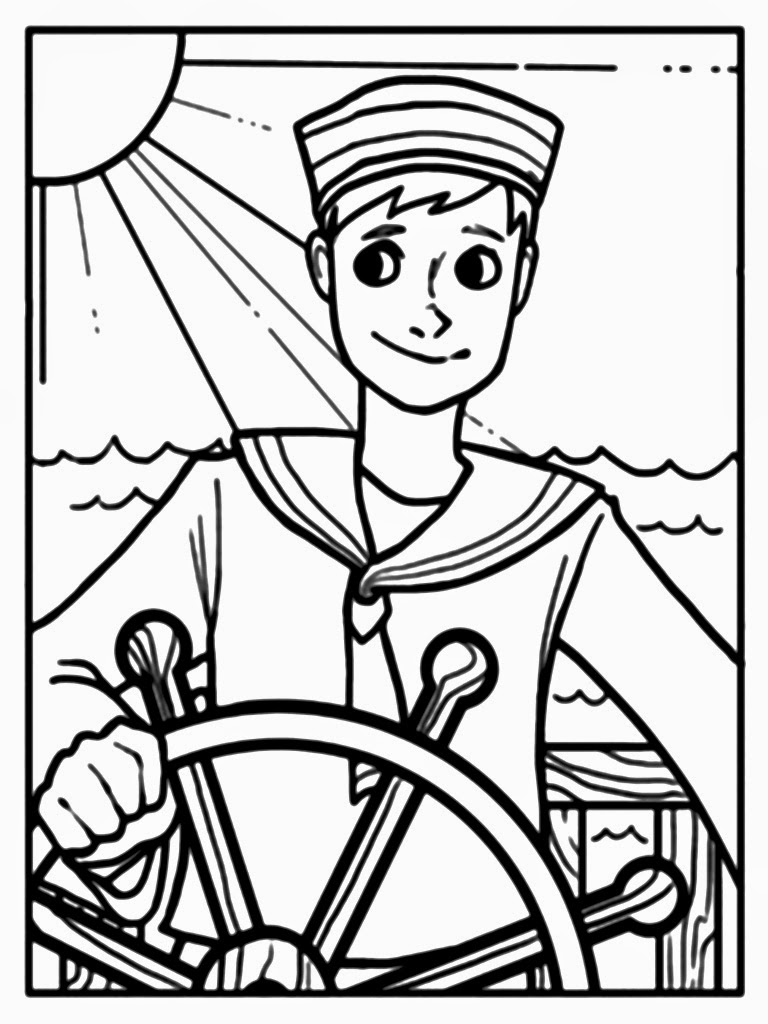 sailor coloring pages