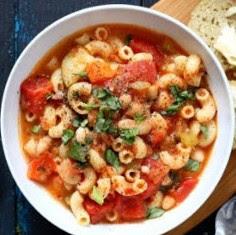 Vegan Minestrone - Veggies Pasta & White Bean Soup