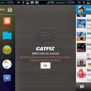 Catfiz mod BBM  [Tampilan seperti Blackberry Messenger]