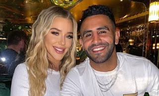Riyad Mahrez And His Girlfriend Taylor Ward