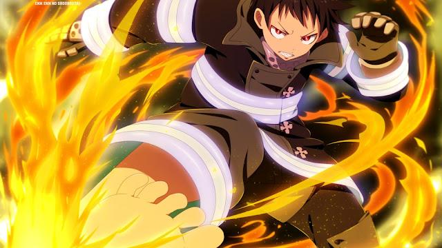 wallpaper anime Enen no Shouboutai shinra kusakabe