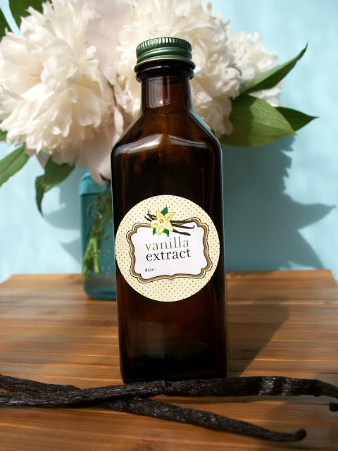 Cute Vanilla Extract Bottle Labels