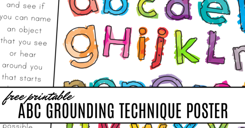 free printable alphabet grounding technique for kids