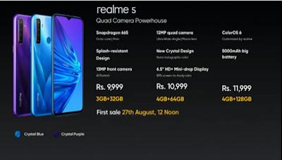 Spek dan Harga Realme 5 & 5 Pro