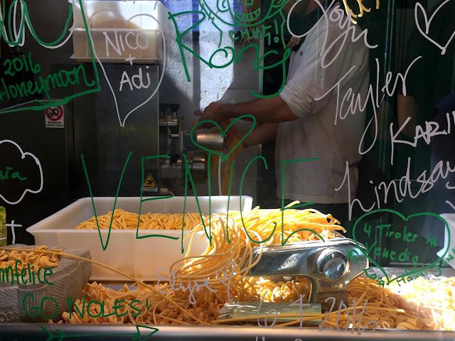 makarna, dal moro's, yemek, venedik, ne, yenir, tur, yurt dışı