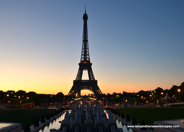sunrise in Trocadero