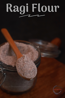Homemade Ragi Flour (Sprouted Finger Millet Flour)