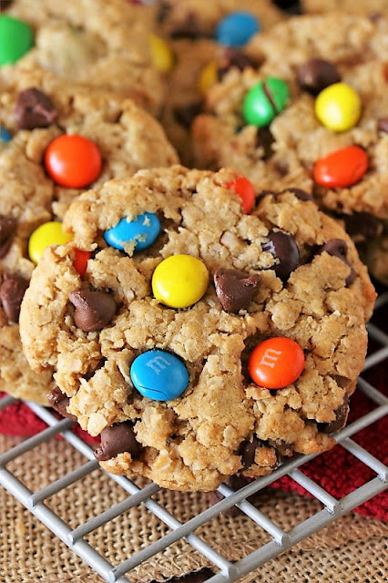 The BEST Monster Cookies with Chocolate Chips and M&Ms Image