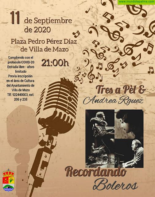 'Recordando Boleros' repasará la historia de este género musical a través de las voces del grupo Tres a Pèl y la solista Andrea Rodríguez