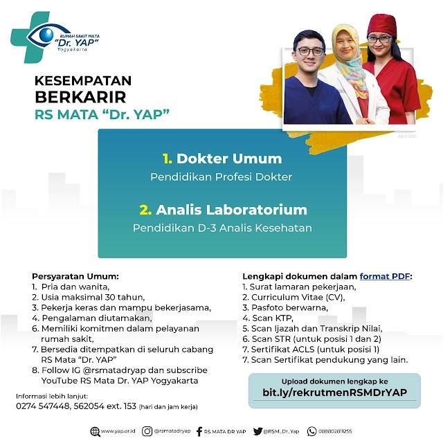 Loker Dokter RS Mata Dr. YAP Yogyakarta
