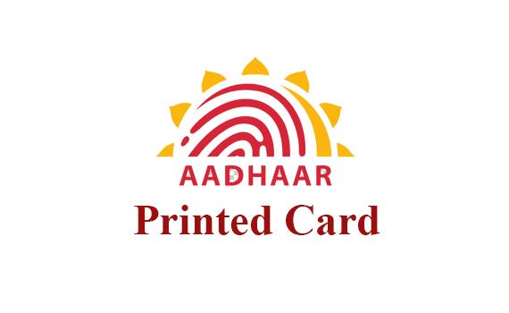 Aadhaar printed plastic card order online in uidai website